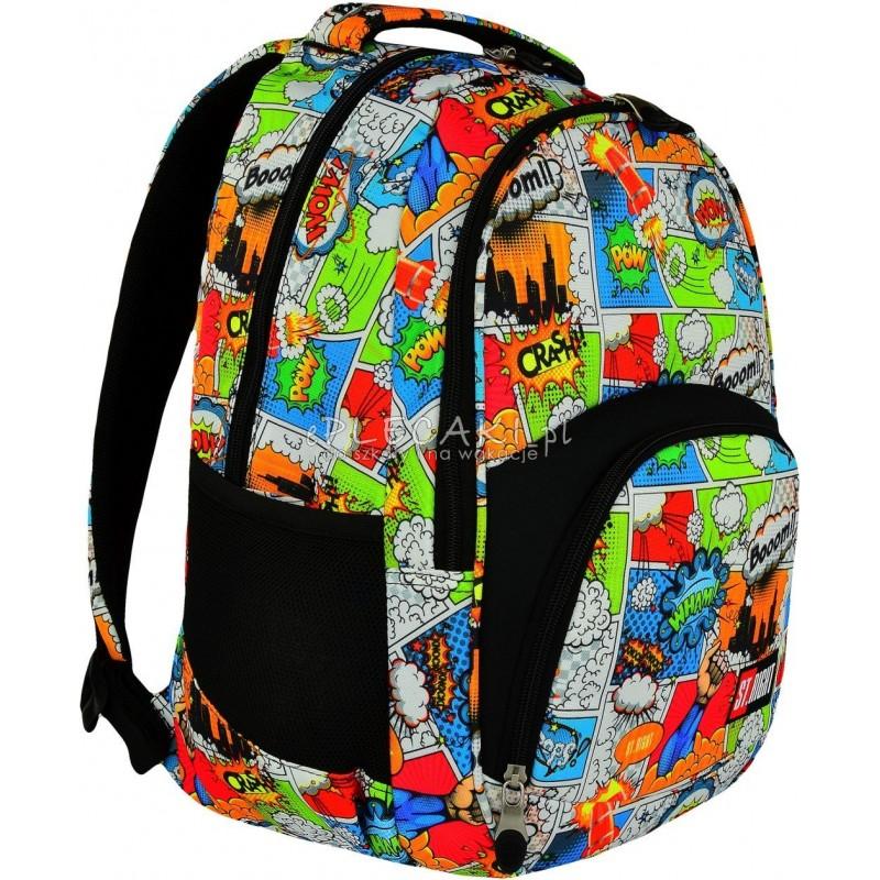 fc01066ab5eed Plecak młodzieżowy 23 ST.RIGHT COMICS komiks BP23 - modny plecak szkolny