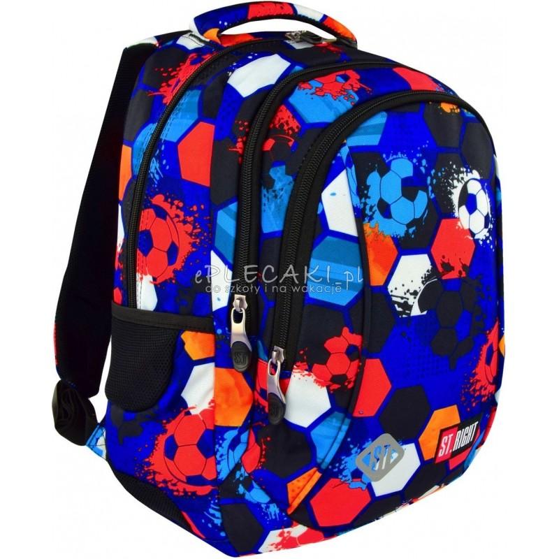 fab1317566a58 Plecak do pierwszej klasy ST.RIGHT FOOTBALL piłka nożna BP26 - modny plecak  dla chłopaka