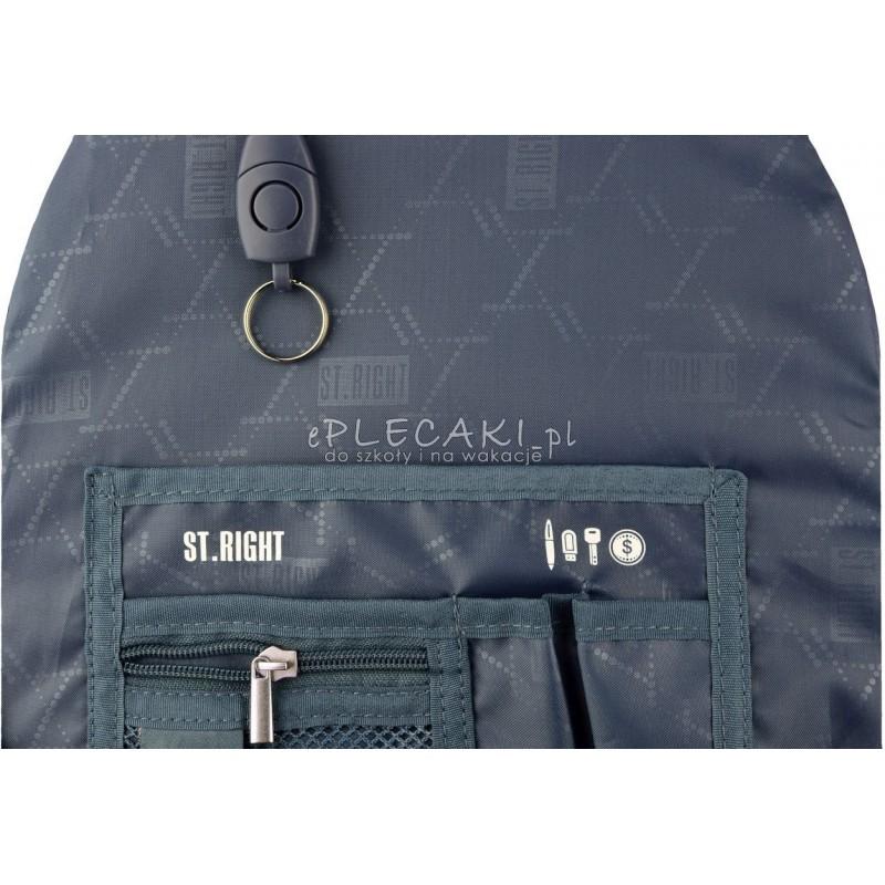 Plecak szkolny ST.RIGHT 32 LAVA gorąca lawa dla chłopaka