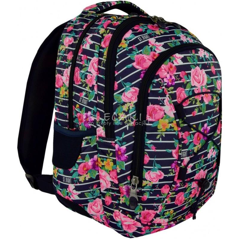6eb12298c307d Plecak młodzieżowy 32 ST.RIGHT LIGHT ROSES róże - modny plecak dla  dziewczyny do szkoły