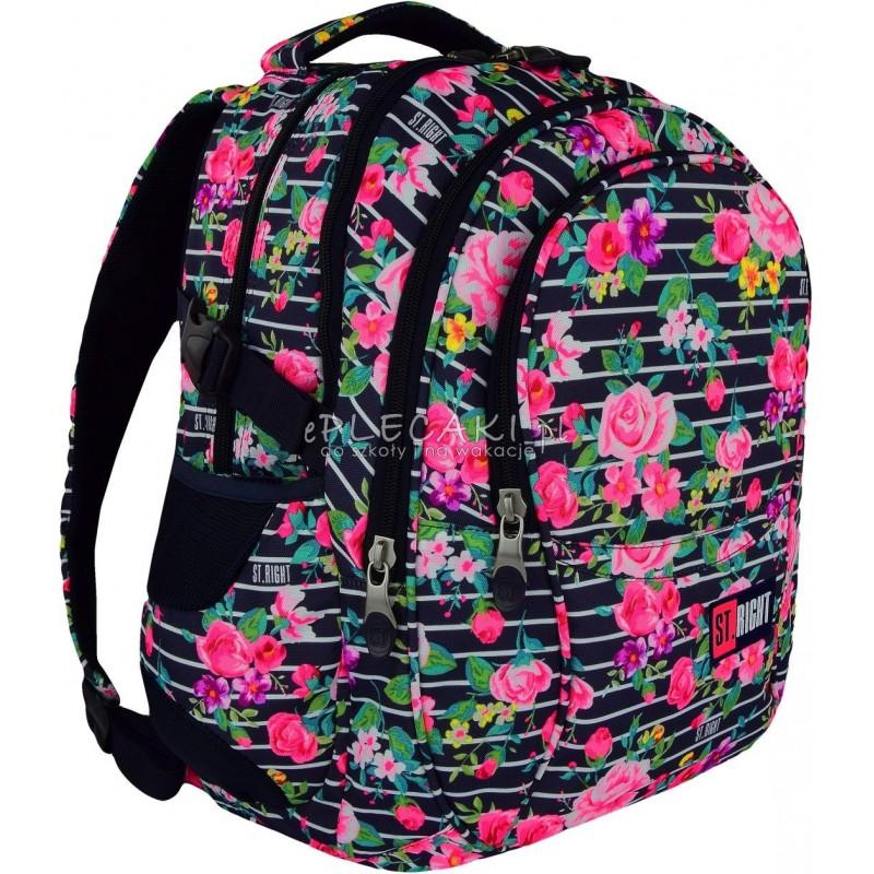 7abbb01c9e20a Plecak młodzieżowy ST.RIGHT LIGHT ROSES różyczki BP01 plecak szkolny dla  dziewczyny