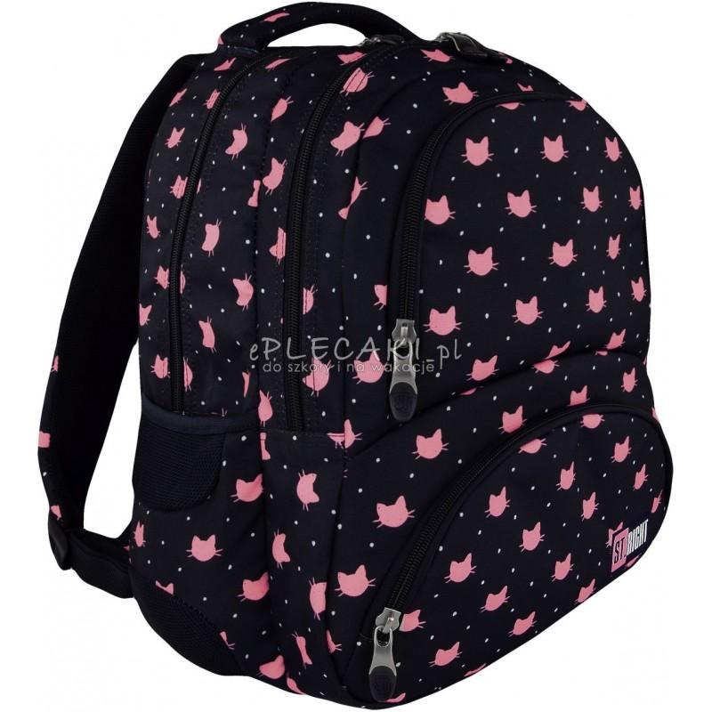 eb39a9a2f9794 Plecak młodzieżowy ST.RIGHT MEOW koty BP07 modny plecak dla dziewczyny,  plecak z kotkami
