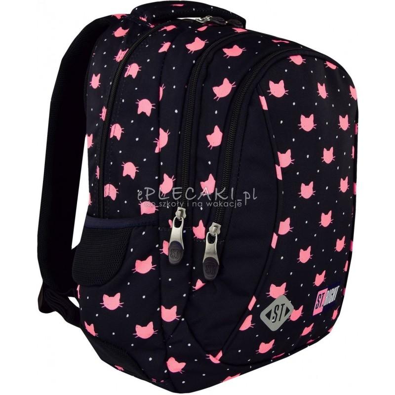 c24e7e02f53a9 Plecak do pierwszej klasy ST.RIGHT MEOW koty BP26 - modny plecak dla  dziewczyny we