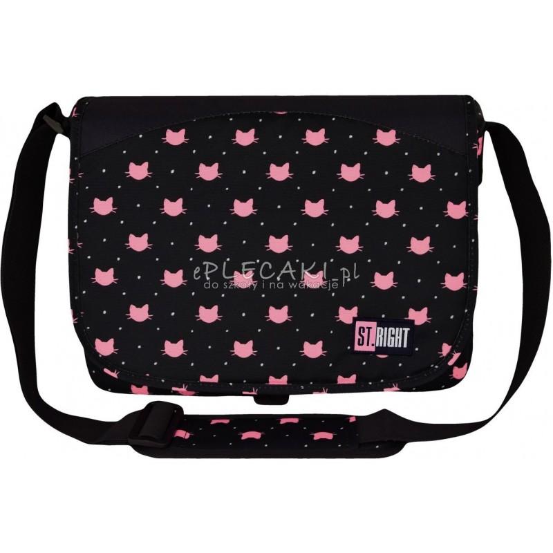 e18bbe4ea57e2 Torba na ramię   listonoszka ST.RIGHT MEOW kotki SB01 modna torba na ramię  dla