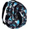 Plecak młodzieżowy ST.RIGHT NET BLUE szare i niebieskie figury BP02