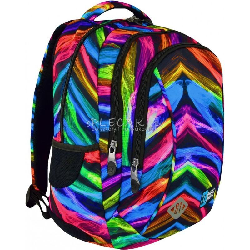 Plecak do pierwszej klasy ST.RIGHT NEW ILLUSION iluzja nowa era BP26 - plecak iluzja, kolorowy plecak do szkoły, modny plecak