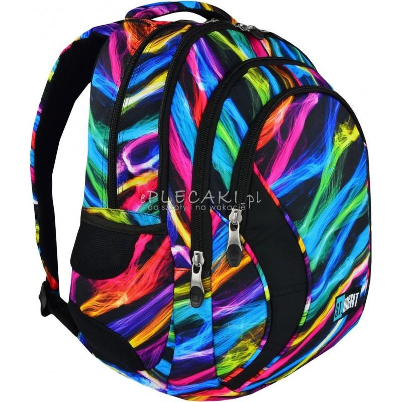 77acce88e163c Plecak młodzieżowy ST.RIGHT NEW ILLUSION iluzja nowa era BP02 kolorowy  plecak do szkoły