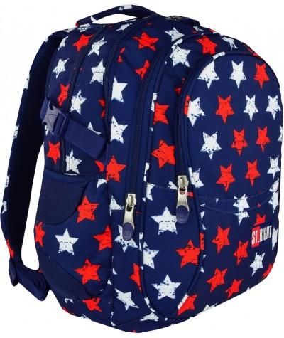Plecak młodzieżowy 01 ST.RIGHT STARS gwiazdy supermodny plecak w amerykańskie barwy, gwiazdy Hollywood