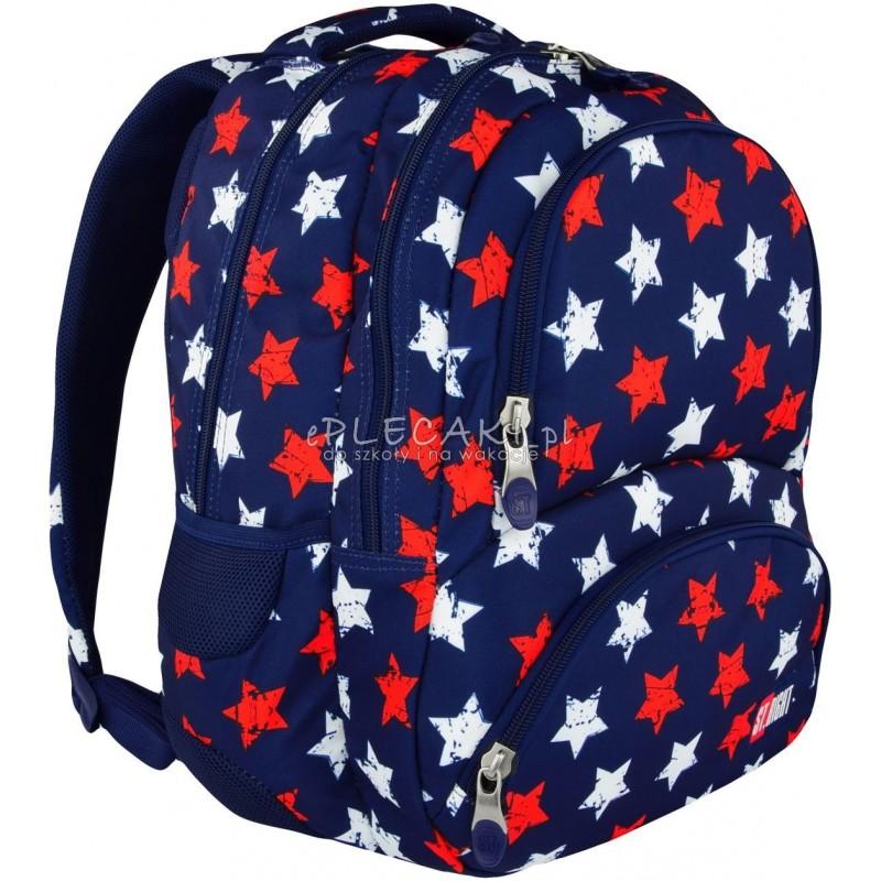 caae370ef41f1 Plecak młodzieżowy ST.RIGHT STARS gwiazdy BP07 modny plecak dla chłopaka