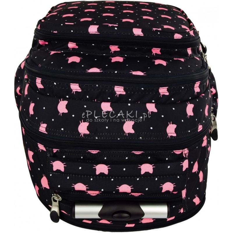 8a15fd233d078 ... Plecak na kółkach ST.RIGHT MEOW koty - plecak w różowe kotki na  granatowym tle ...