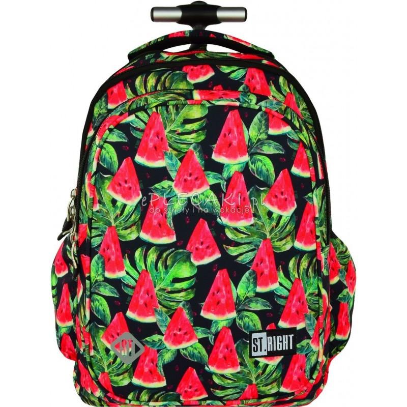 10c28c18b5054 Plecak na kółkach ST.RIGHT WATERMELON arbuzy - soczysty plecak w czerwone  arbuzy i zielone