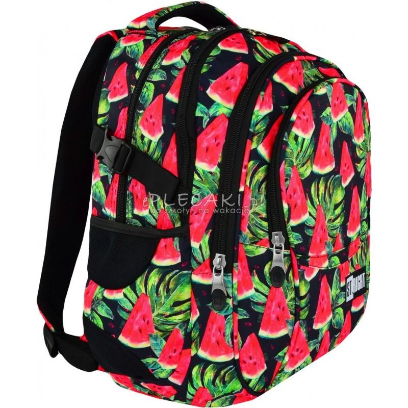 0e7b556485a58 Plecak młodzieżowy 01 ST.RIGHT WATERMELON arbuzy supermodny plecak dla  nastolatki - plecak szkolny