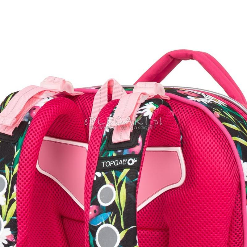 a3e0f4f5d79b2 ... Plecak w kwiaty, plecak w biedronki, czerwony plecak szkolny Topgal  kwiaty i biedronki COCO ...