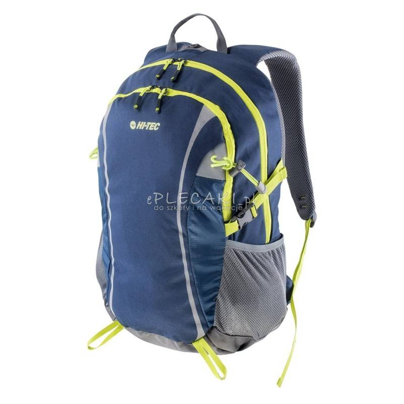 241db90b57512 Plecak sportowy HI-TEC COLUMBO DRESS BLUES   STEEL GREY   LIME PUNCH 30 L
