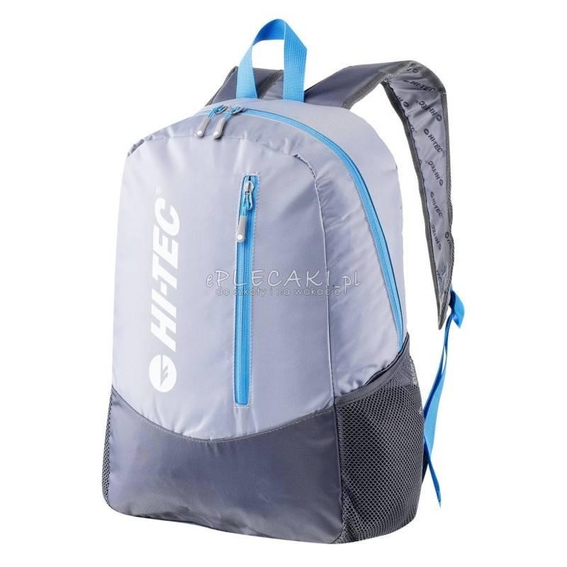 f5e58347380cc Plecak miejski HI-TEC PINBACK WET WEATHER / BLUE DANUBE / STREEL GREY szary  sportowy