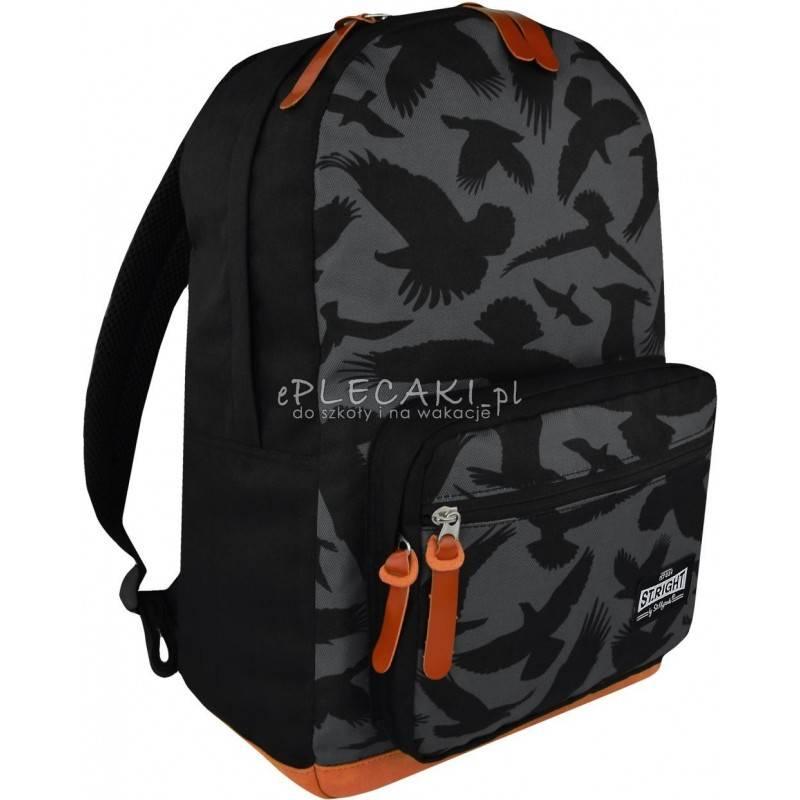 3b805901e277d Plecak miejski ST.RIGHT EAGLE szary w orły vintage BP46 dla chłopaka dla  dziewczyny