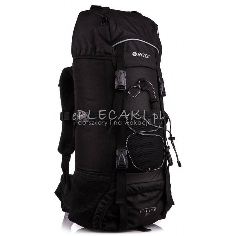 6daf83e963e05 Plecak turystyczny HI-TEC TOSCA 50L BLACK czarny górski z kominem i stelażem