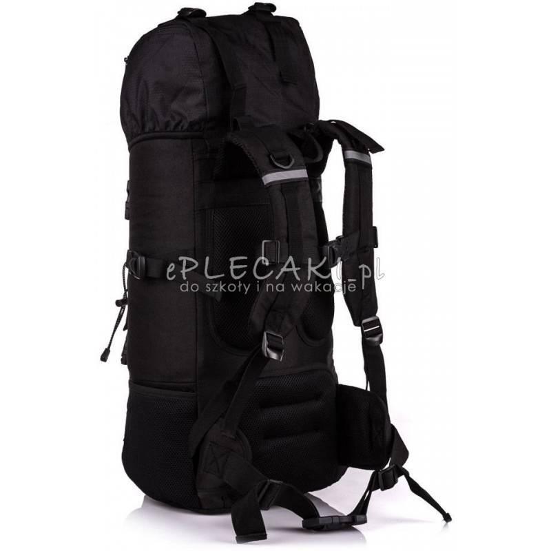 30506143f4481 ... Plecak turystyczny HI-TEC TOSCA 50L BLACK czarny górski z kominem i  stelażem ...