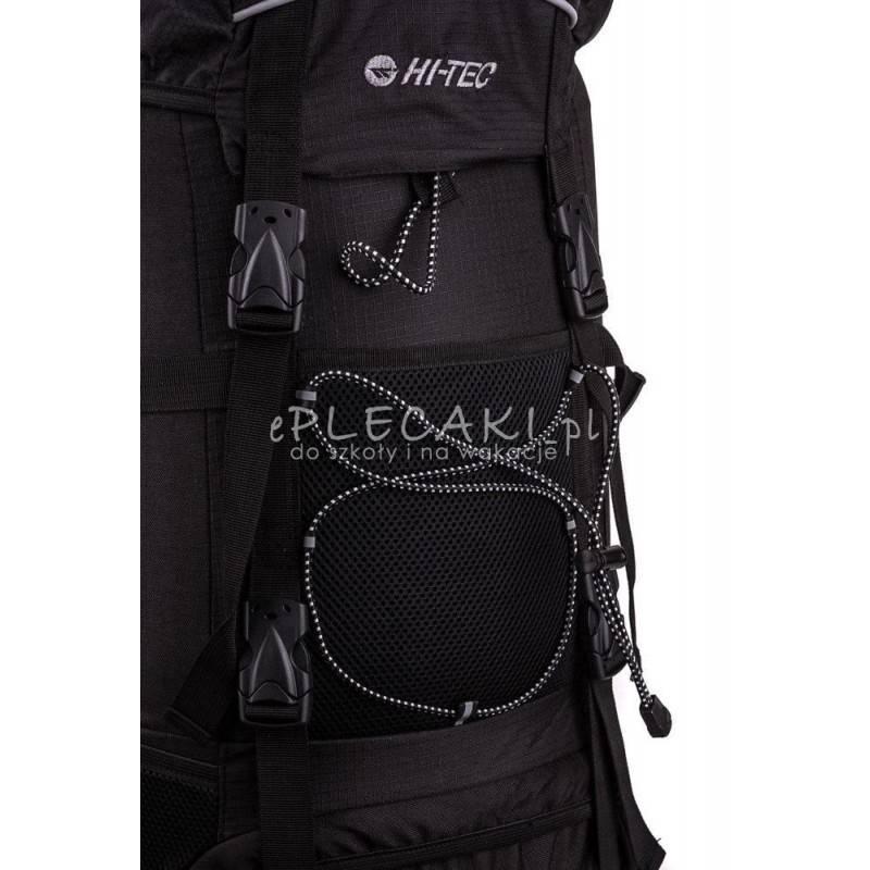 fdc2686dfa55f ... Plecak turystyczny HI-TEC TOSCA 50L BLACK czarny górski z kominem i  stelażem ...