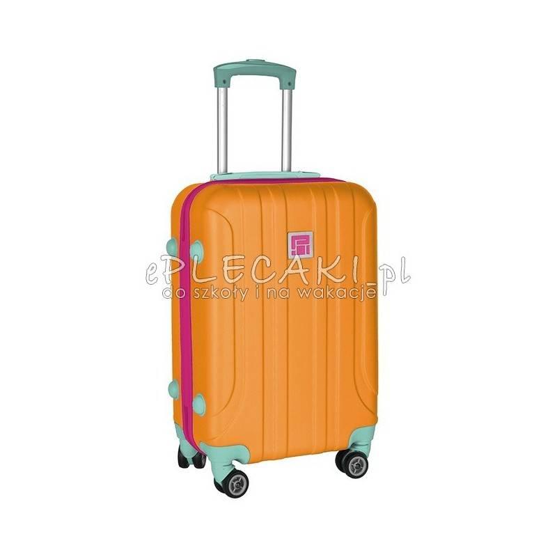 98bfbb6222ad9 Walizka Paso mała ABS pomarańczowa damska na krótki wyjazd na wycieczkę  szkolną