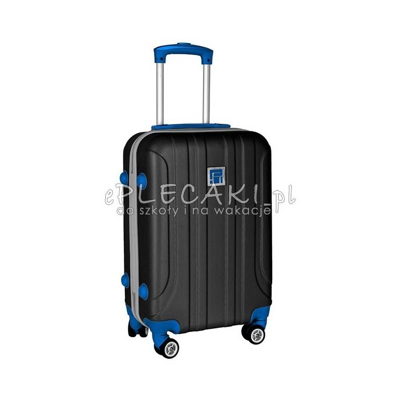 ae75f37b6fdfd Czarna walizka podróżna w rozmiarze małym ABS dla dzieci i dorołych