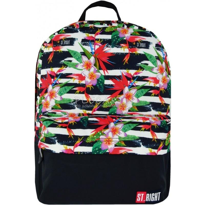 07cf3d8912c4c RIGHT TROPICAL STRIPES hibiskus BP33 na laptopa - modny plecak dla  nastolatki ...