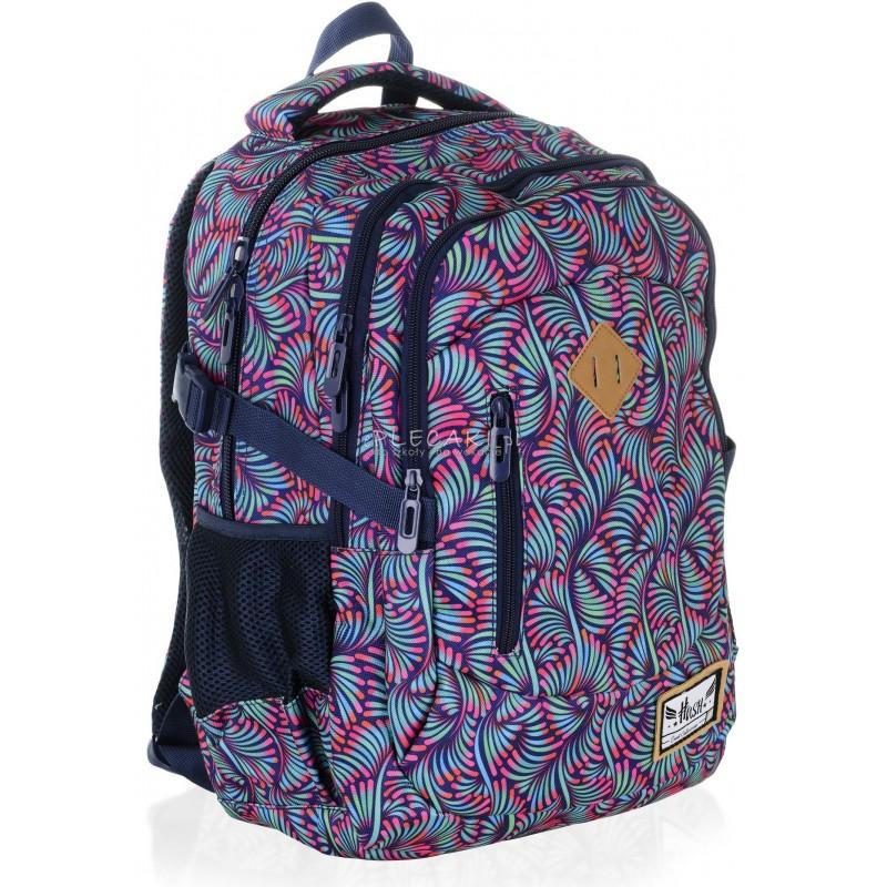 d8f42b17eccf0 Plecak młodzieżowy HASH pawie pióra HS-13 H - modny plecak dla dziewczyny  do szkoły