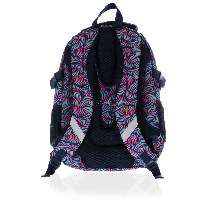 5d0eff53db263 ... Plecak młodzieżowy HASH pawie pióra HS-13 H - modny plecak dla  dziewczyny do szkoły
