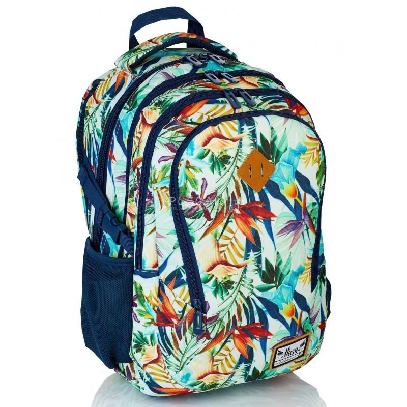 b100b8d24c33 Plecak młodzieżowy HASH rośliny tropikalne HS-05 E - najmodniejsze plecaki