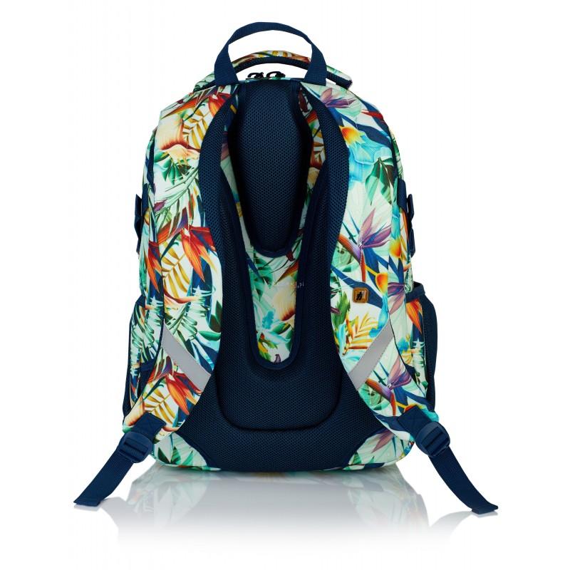 9d9456e39e30 ... Plecak młodzieżowy HASH rośliny tropikalne HS-05 E - najmodniejsze  plecaki