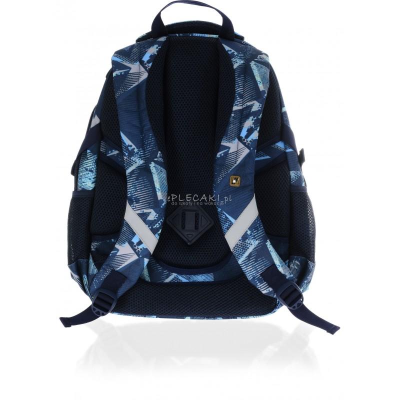 3ac4e409eea26 Plecak młodzieżowy HASH niebieska abstrakcja dla chłopaków HS-17 D