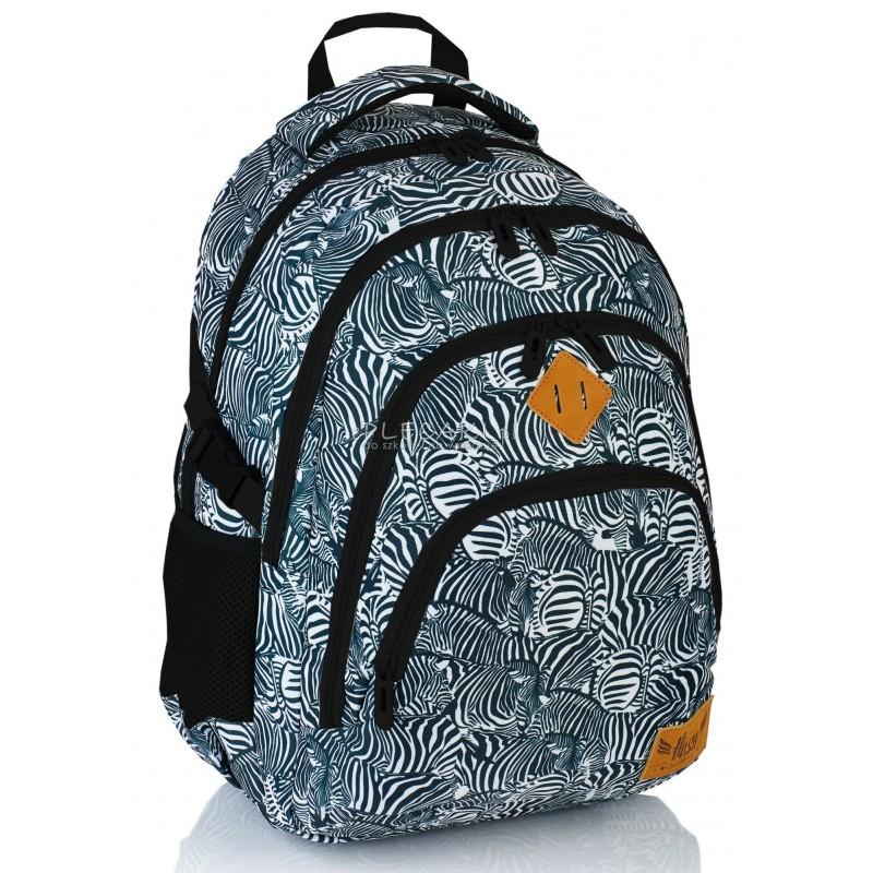 d2a5f5605f25b Plecak młodzieżowy HASH na laptop zebra HS-15 dla młodzieży A