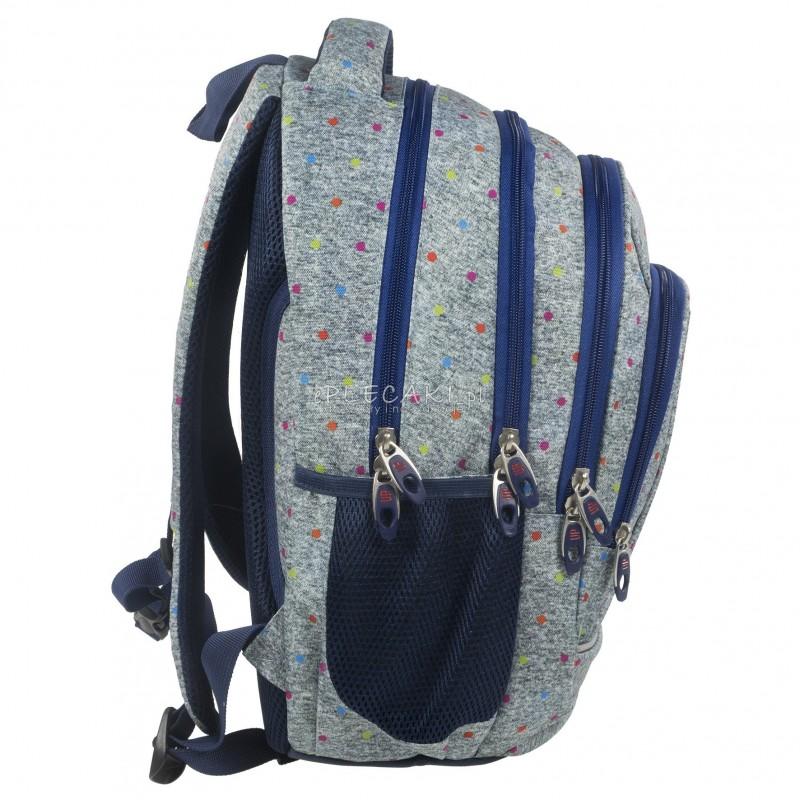4bf0e3e1bd4bc ... Plecak BackUP A 11 szary w kropki do szkoły + GRATIS słuchawki - modny  plecak dla ...
