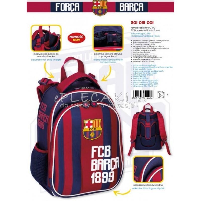 8dfbdf643a6ef ... Tornister szkolny FC Barcelona FC-170 wygodny i przyjazny dla zrowia ...