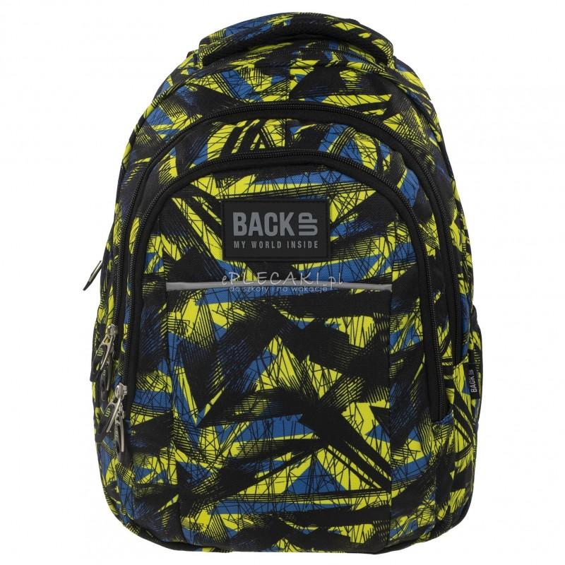 9149273344852 ... Plecak BackUP H 29 kreślarska abstrakcja do szkoły - modny plecak dla  chłopaka do szkoły, ...