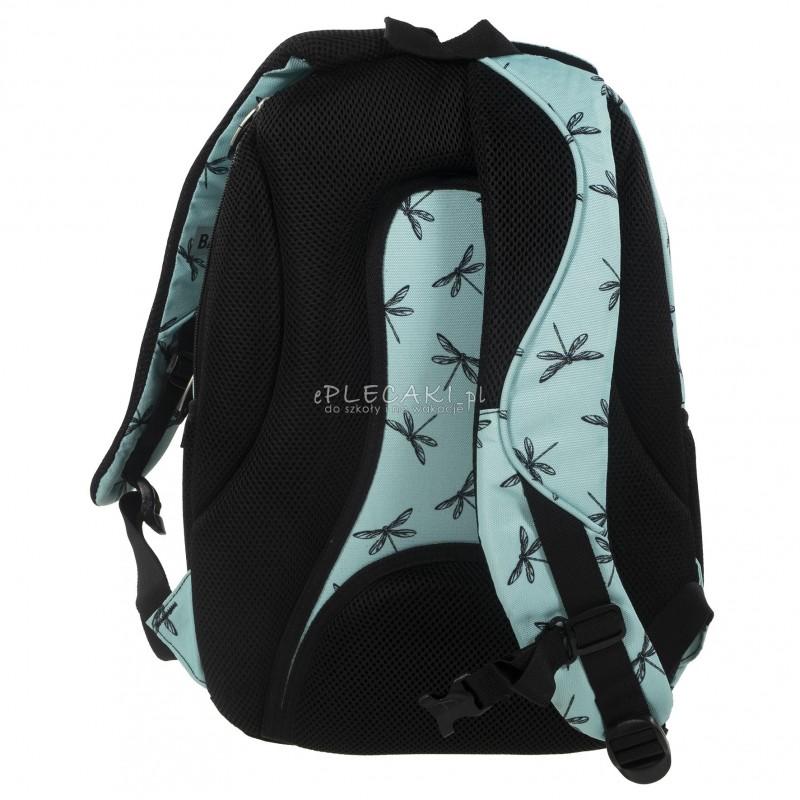 d046de391cc18 ... Plecak BackUP D 23 ważki do szkoły + GRATIS słuchawki - miętowy plecak  dla dziewczyny, ...