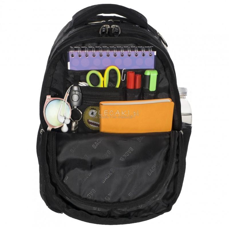 72f20b74c5ddb ... Plecak BackUP D 26 kwiatuszki do szkoły + GRATIS słuchawki - modny  plecak dla dziewczyny,