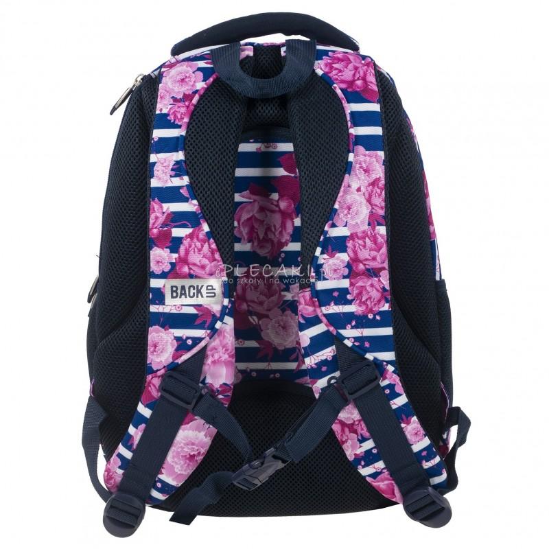5cab40ae57977 ... Plecak BackUP D 34 begonie do szkoły + GRATIS słuchawki - modny plecak  dla dziewczyny, ...