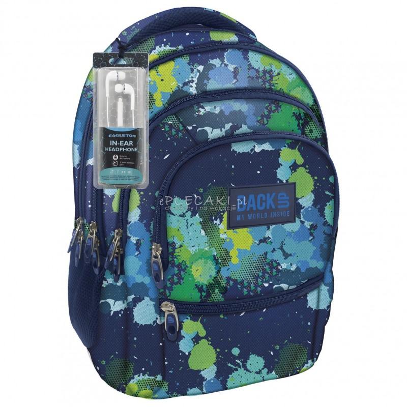 0641fc01b0752 Plecak BackUP C 22 akwarela do szkoły - fajny plecak dla chłopaka