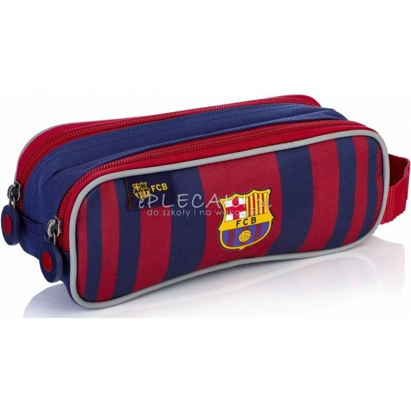 3f59f8462 Piórnik szkolny / saszetka podwójna FC Barcelona FC-178 Barca w paski dla  chłopca