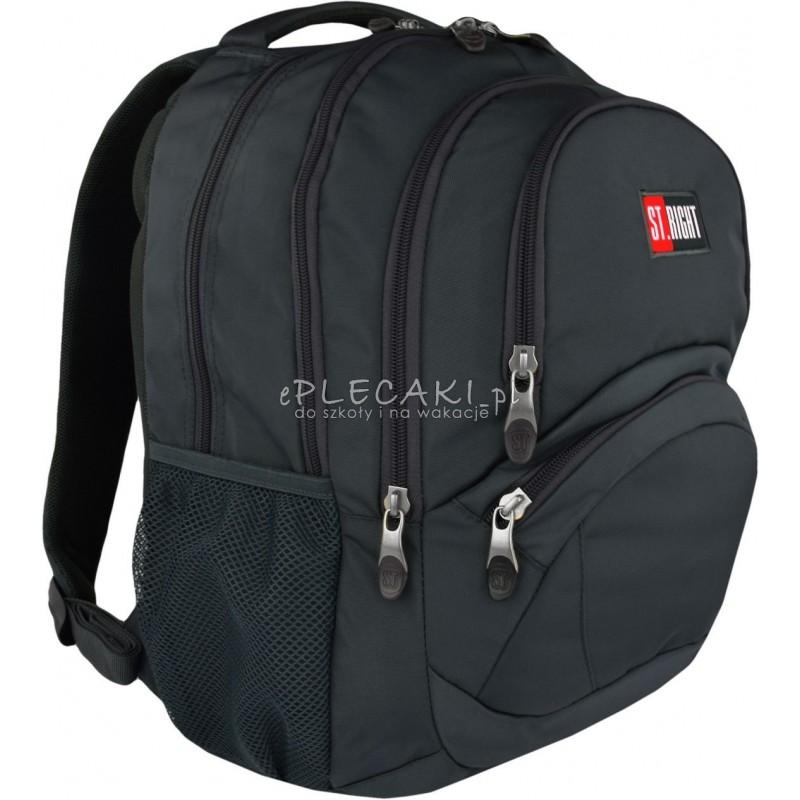f0fd81fedc029 Plecak młodzieżowy ST.RIGHT 3-komory ST.GRAY szary BP05 - szary plecak