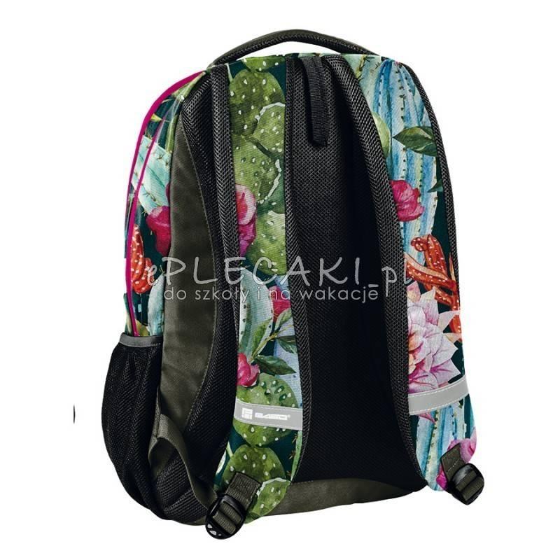 a7fb6ecfda63a ... Plecak w kwiaty kaktusa: zielony, różowy i pomarańczowy dla dziewczyny  Paso Unique ...