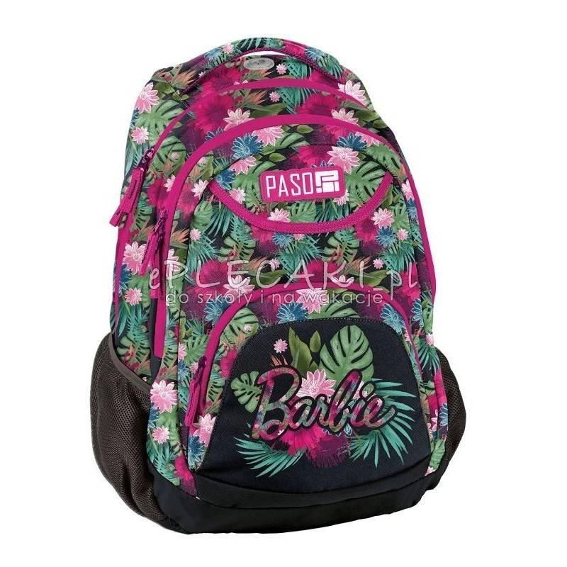 aca7c3621f919 Tropikalny plecakw kwiaty zielony różowy czarny młodzieżowy Paso Unique  Barbie