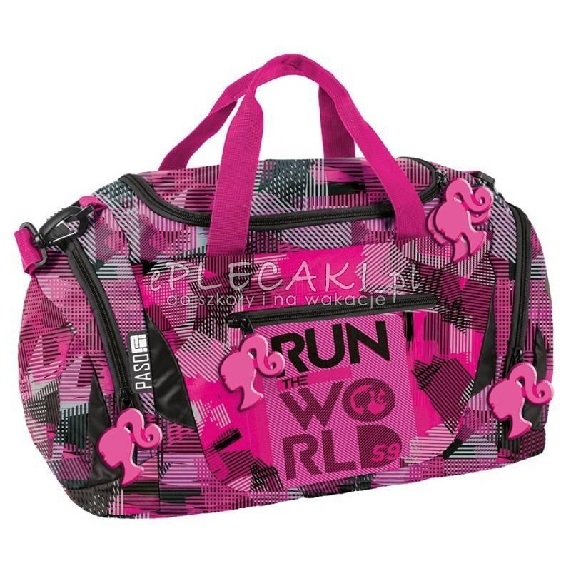 21bd08e5d0e01 ... Torba sportowa   fitness Paso Barbie różowa