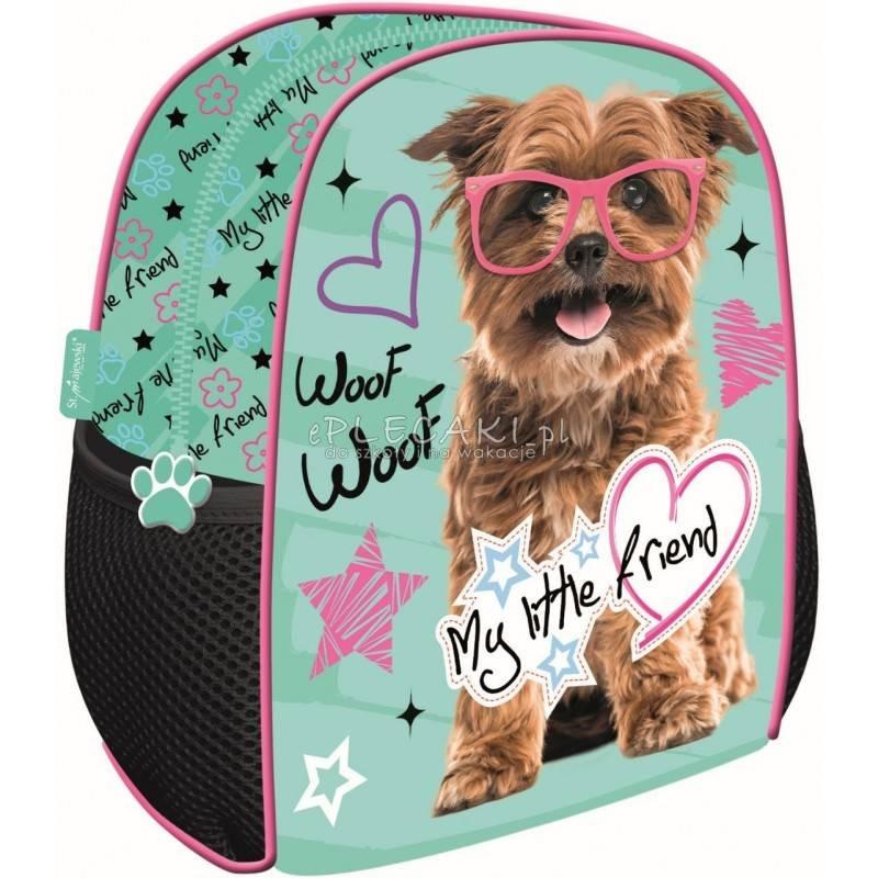 ad4368b433885 Plecak z psem: miętowy na wycieczkę do przedszkola My Little Friend