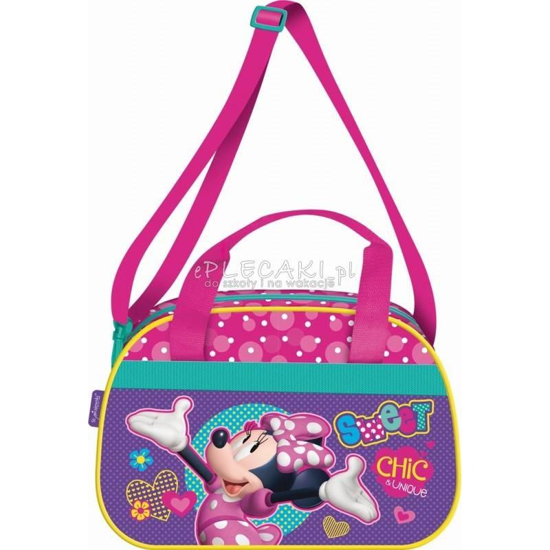 7b5ade52401da Torba sportowa   na basen z Myszką Minnie kolorowa dla dziewczynki