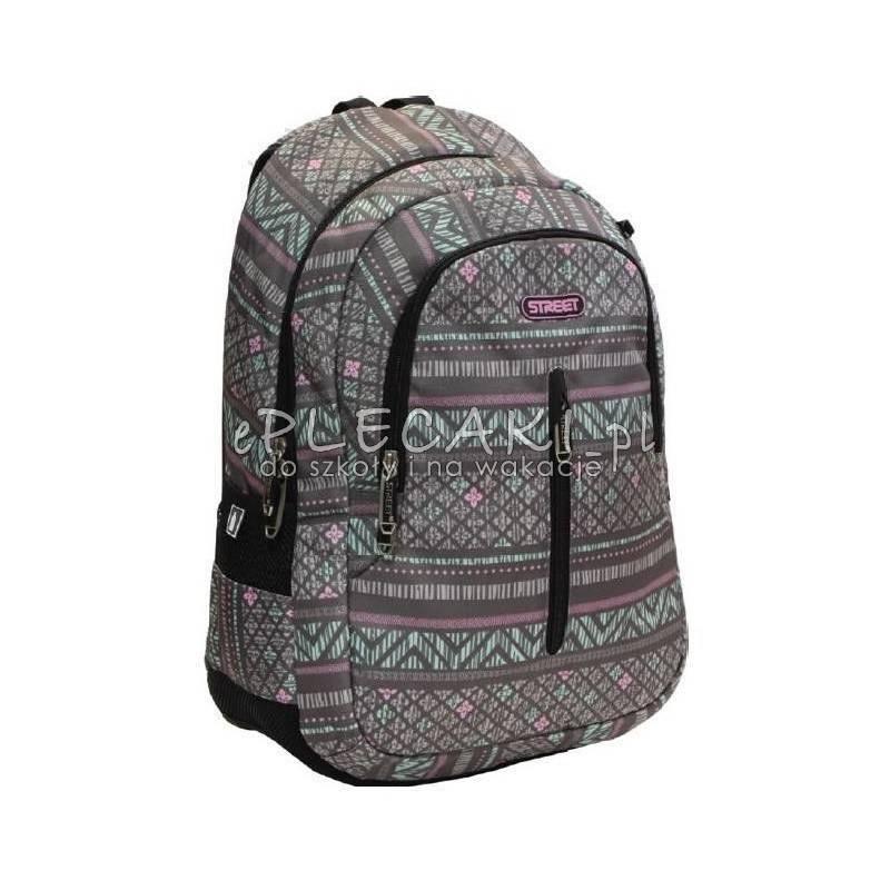eab86e9887922 Plecak ze wzorem azteckim miętowym i różowym na szarym tle dla dziewczyny  STREET Hit sezonu