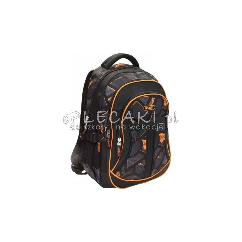 de20175523c7d Plecak z pomarańczowymi akcentami czarny dla chłopaka street
