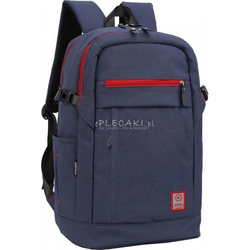 632512e63ff37 Plecak gładki granatowy dla chłopaka Street - hit - klasyczny plecak męski