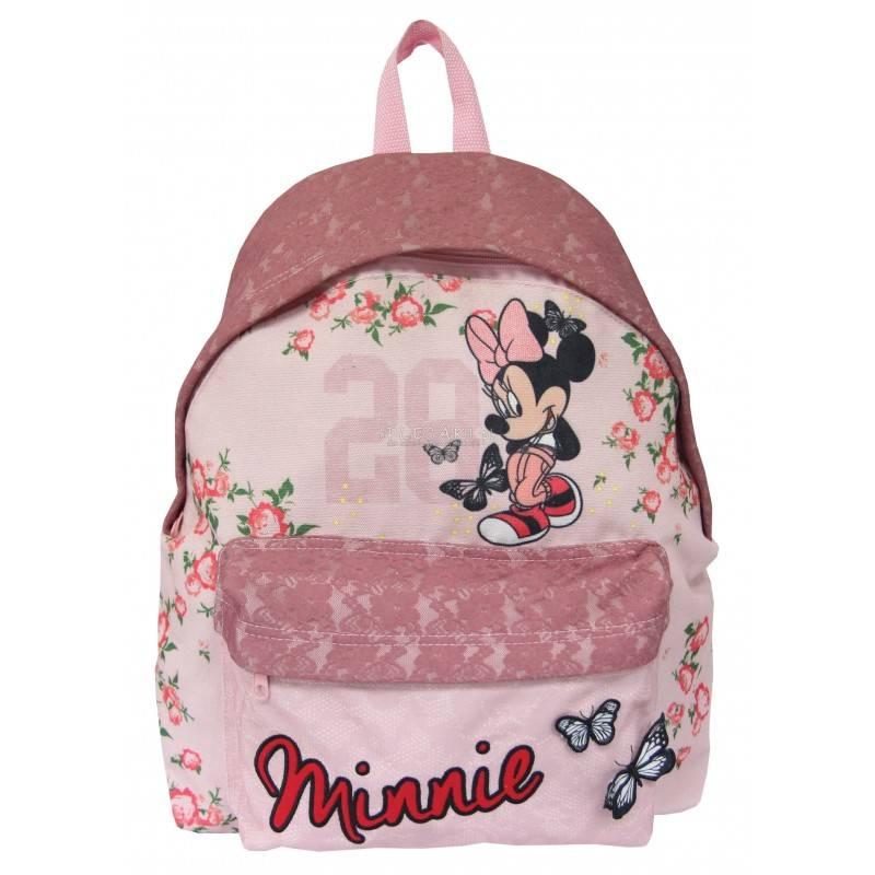 498833f3d5 Plecak z koronką różowy z myszką minnie dla dziewczyn - modny plecak  koronka